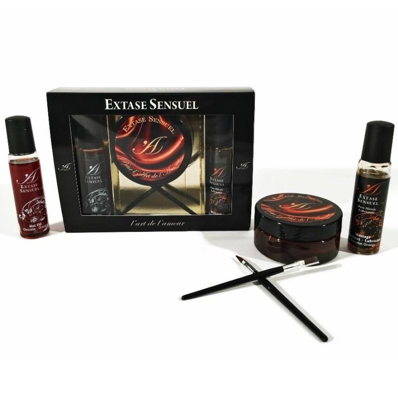 Extase Sensual Kit Cofre Chocolate Afrodisiaco