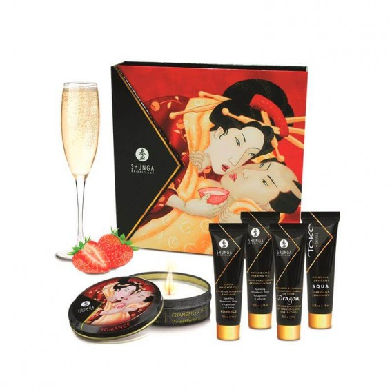 Kit Secret Geisha Fresa Champagne Shunga