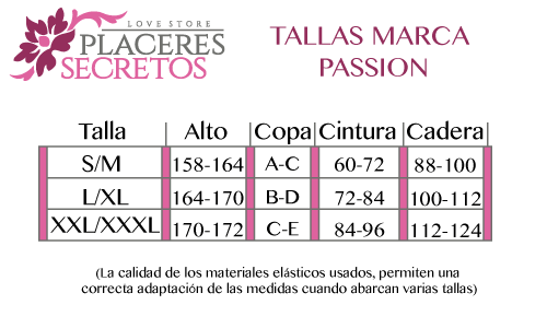 tabla talla passion